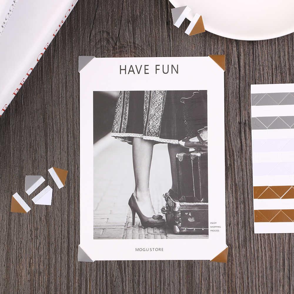 102 pcs/גיליון DIY צבעוני תמונה פינת Scrapbook נייר אלבומים תמונות מסגרת תמונה קישוט בציר PVC מדבקות אופנה DIY