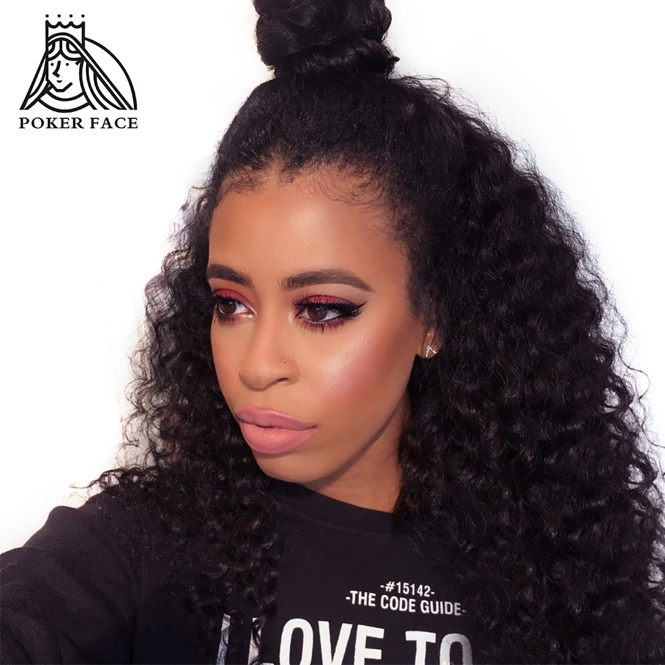 Poker Face Deep Wave Lace Long Wigs Vietnamese Remy Human Hair Average Size 10 26 inch