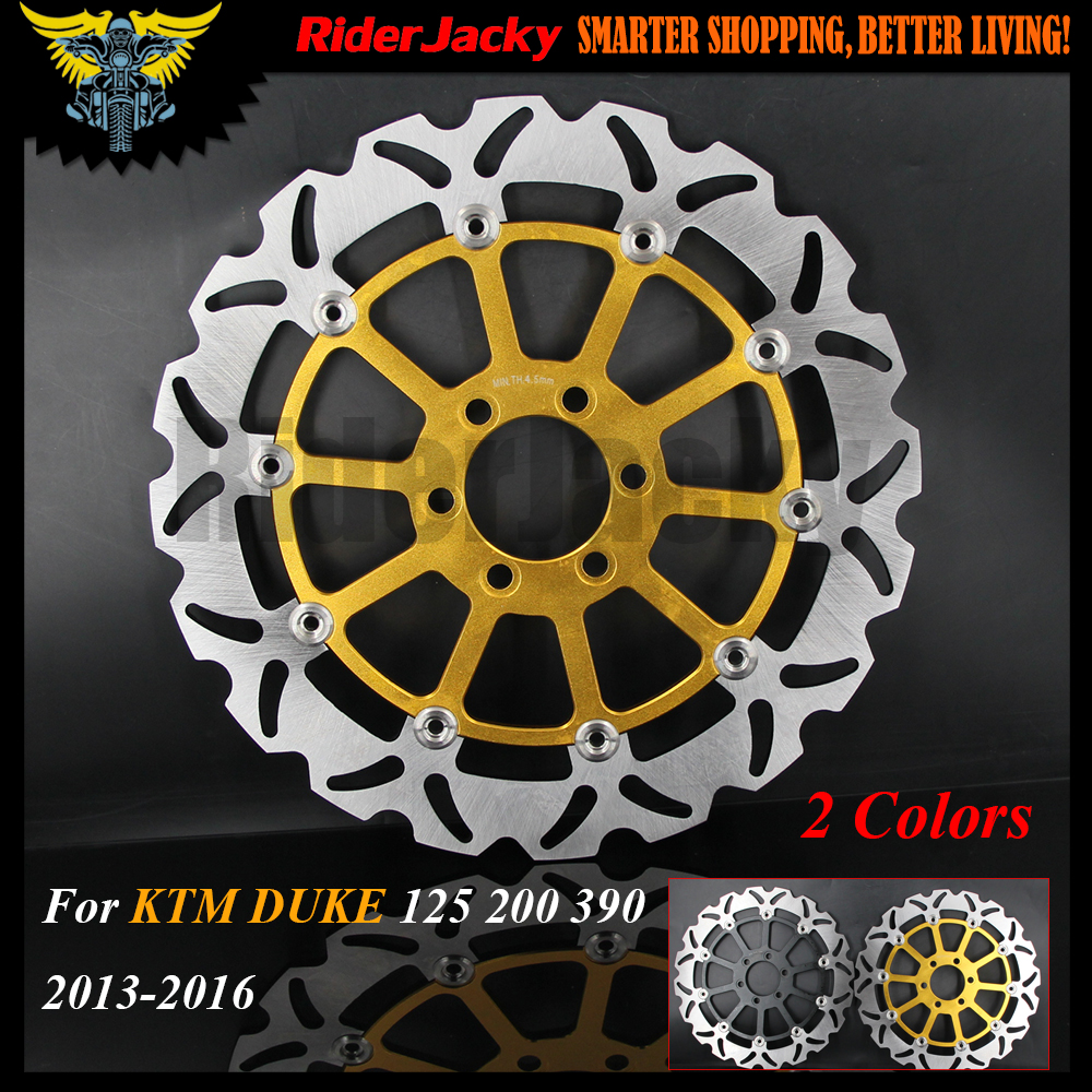 Aluminum Stainless Steel Black /Golden Motorcycle 320mm Front Brake Disc Rotor For KTM DUKE 125 200 390 DUKE 2013-2016 2014 2015 black windscreen windshield for ktm 125 200 390 duke motorcycle motorbike dirt bike free shipping