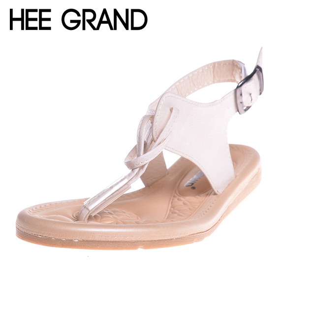 77249b6363ef47 HEE GRAND Women Gladiator Sandals Simple Flat With Buckle Flip fFlops Woman  Summer Casual Shoes XWZ3789-in Low Heels from Shoes on Aliexpress.com