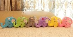 Grand éléphant fleuri 12CM env. Poupée en peluche peluche poupée ventouse voiture & chambre & fenêtre pendentif Bouquet jouet poupée