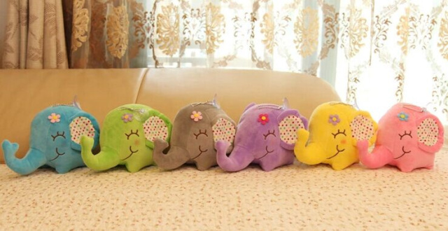 Super Kawaii BIG Floral Elephant Plush