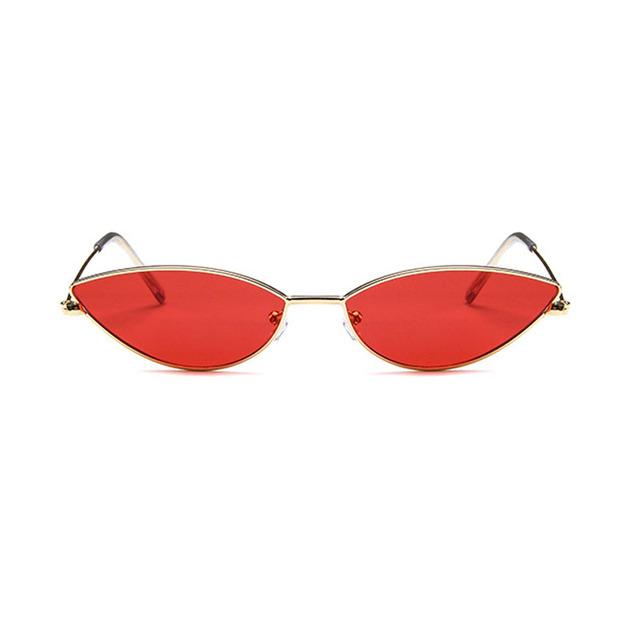 New Fashion Cat Eye Sunglasses Brand Designer Women Small Frame Sun glasses Metal Gafas Shades Eyewear Female Oculos de sol