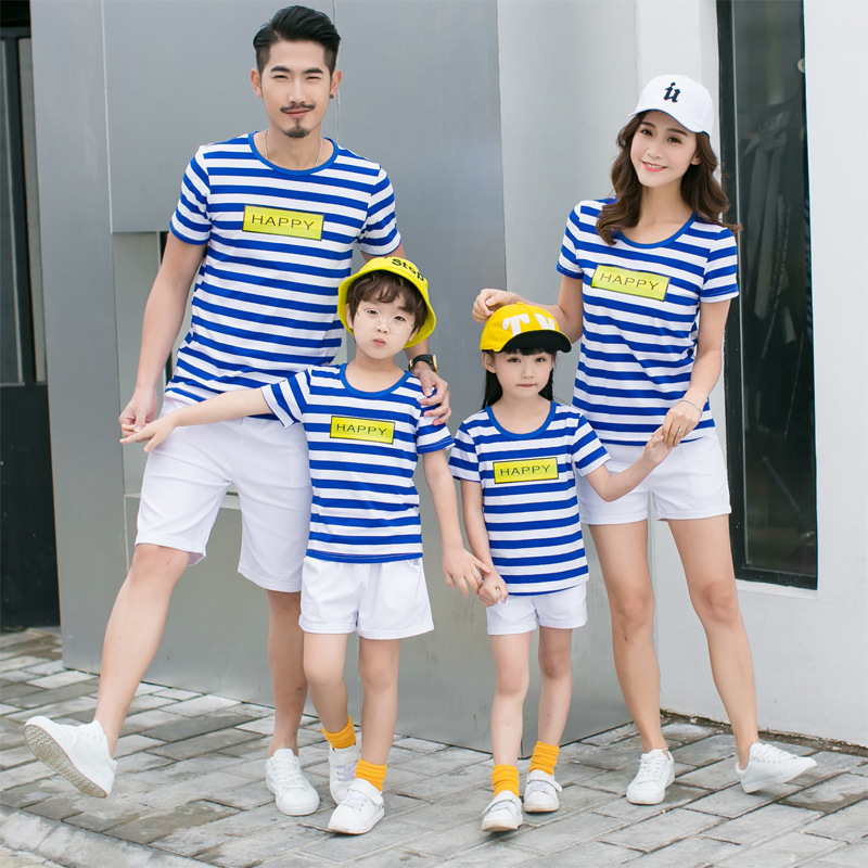 Plus Size Family Matching T Shirts Summer Mother Daughter Son Outfits couple T Shirts Tees Clothing Pajamas Mom Son Baby Clothes