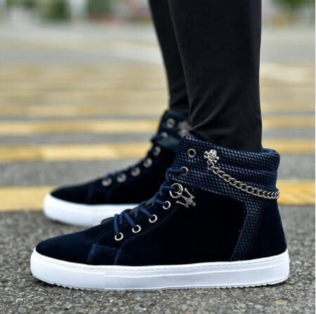 IPCCM Autumn Men Casual Shoes High top Skull punk chain Sneakers Hip Hop Leather Shoes Male Martin Boots Outdoor trainers tenis gzeele new for dell precision 7710 7720 m7710 m7720 laptop bottom battery cover door access panel door 816fh 0816fh am1dj000601