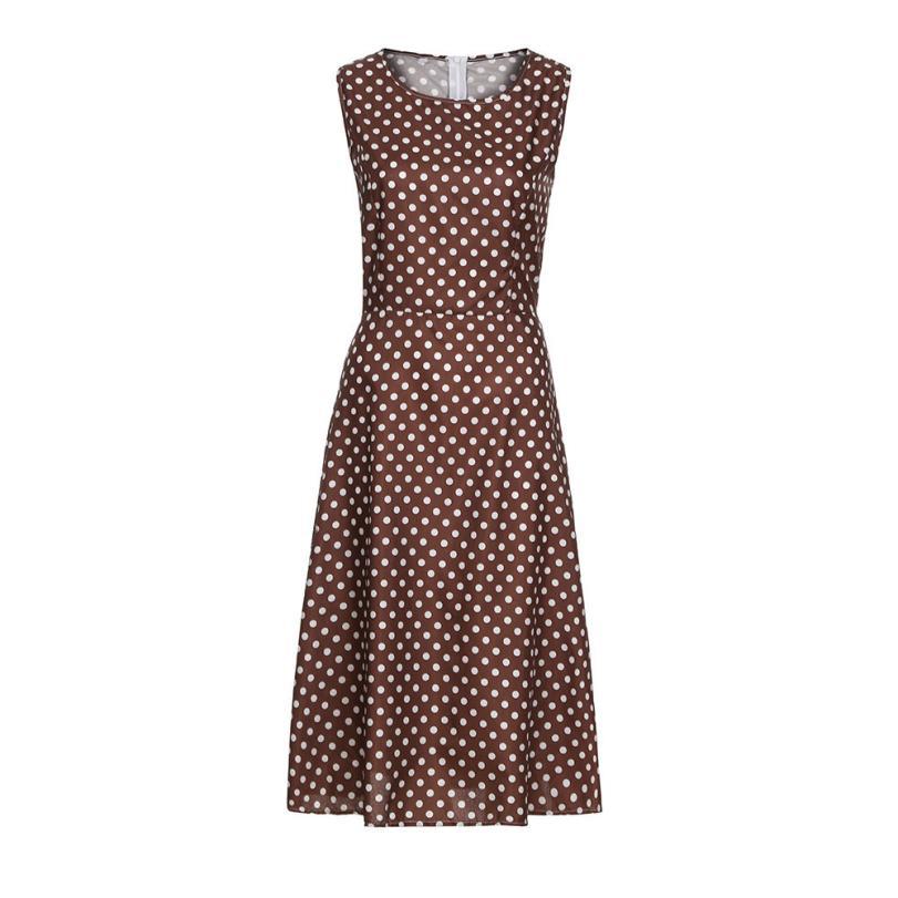 KANCOOLD dress Womens Dot Sleeveless Hebburn Vintage Zip Empire Dress Cute Floral Knee Length dress women 2018jul20