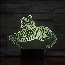 3d Illusion Led Table Lamp Sleep Tiger Touch Switch Base for Kids Bedroom Decoration Gift Children's Acrylic Led Night Light 3d недорого