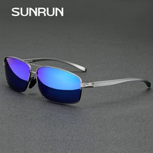 SUNRUN Brand Designer Polarized Men's Sunglasses Square Aluminum Magnesium Frame Driving Fashion Sun Glasses Gafas 2458