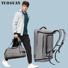 Tuguan Travel Bagasje Vesker Anti Theft Portable Storkapasitet Business Trip Carry Duffle Menn Mannsmote Brand Shoulder Bags