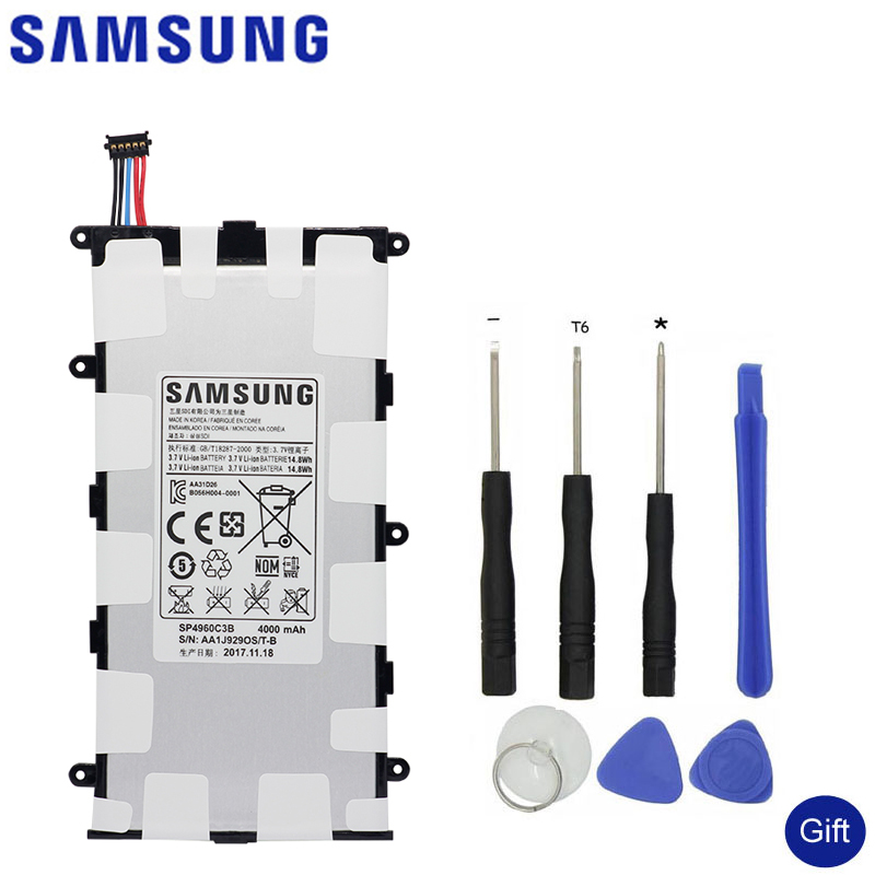 SAMSUNG Replacement Battery SP4960C3B For Samsung GALAXY Tab 7.0 Plus P3110 P3100 P6200 P6210 Original Tablet Battery 4000mAh