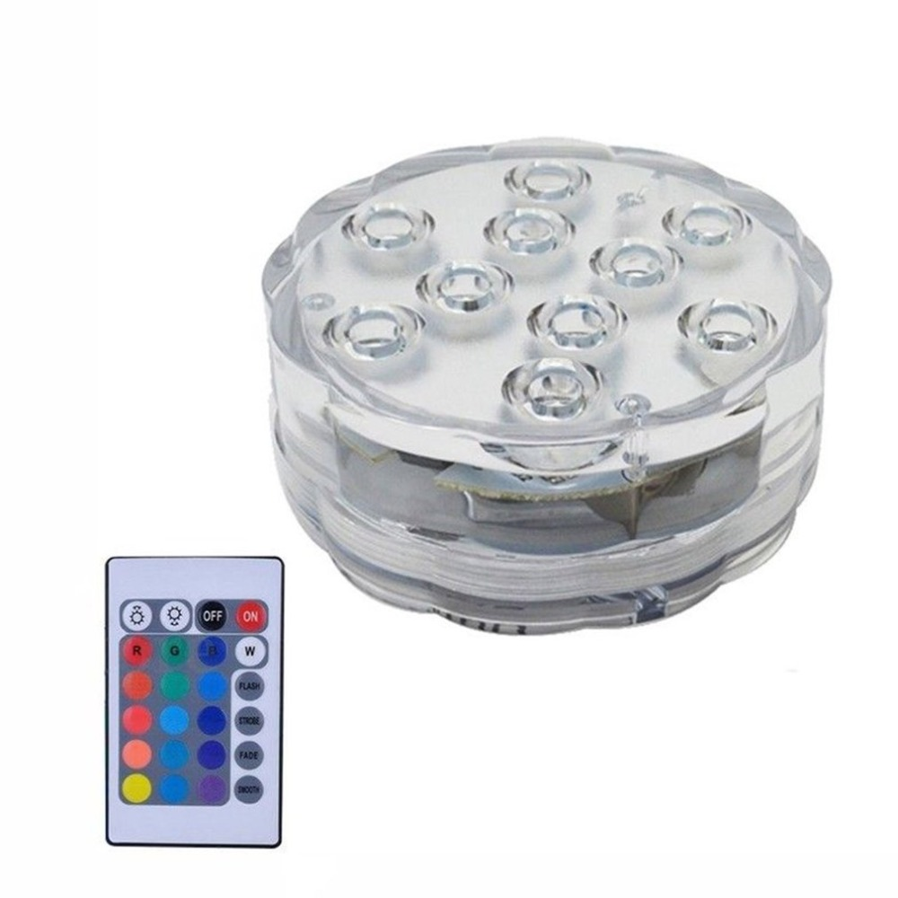 Swimming Pool Light Ip68 Piscine With Remote Control Rgb Submersible Light Durable Led Bulb Portable Underwater Led Underwater Lights