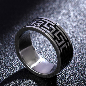 """Vintage 316L Stainless Steel Ring for Men And Women Never Fade Power Lucky """"Om Mani Padme Hum"""" Sanskrit Buddhist Mantra Ring(China)"""