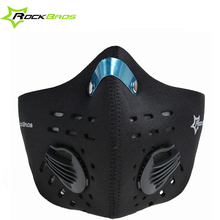 Rockbros Bike Cycling Anti-dust Half Face Mask with Filter Neoprene Wind Stopper Sports Masks For Bicyle Motor Cycle 5Colors