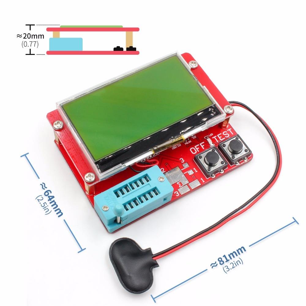 2015 ESR-T4 Mega328 Probador de transistores digitales Diodo Triodo Capacitancia Medidor de ESR MOS / PNP / NPN LCR TESTER METER 12864 Pantalla LCD