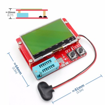 2015 ESR-T4 Mega328 Digital Transistor Tester Diode Triode Capacitance ESR Meter MOS/PNP/NPN LCR TESTER METER 12864 LCD screen