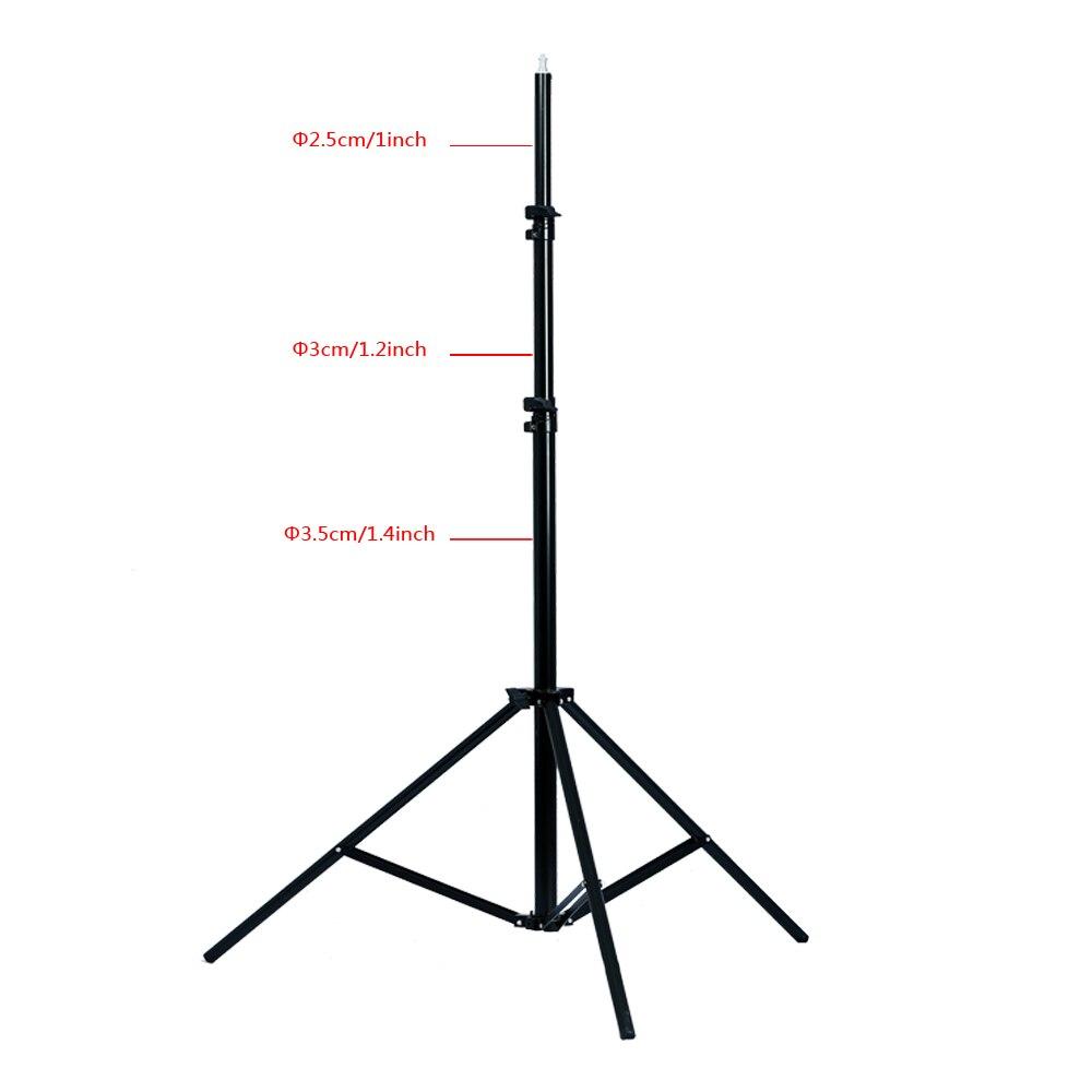 2.4 m/9.2ft 1/4 tête épaissir la lumière Support trépied pour Photo Studio éclairage Softbox parapluie Flash - 2