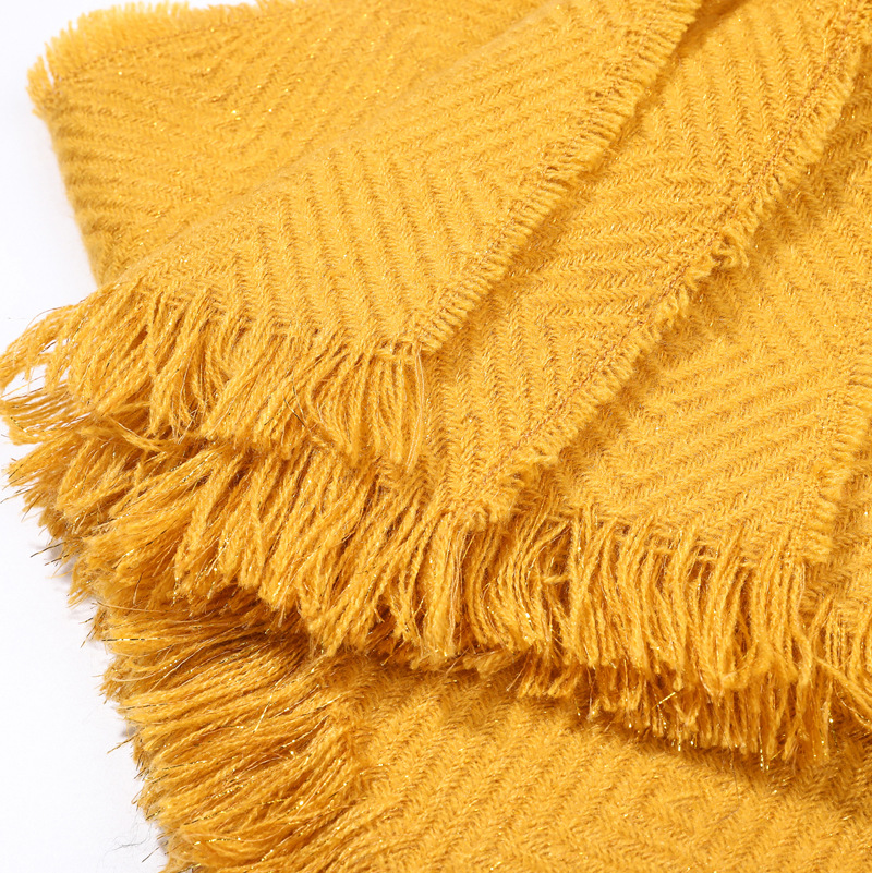 2019 New Thick Warm Winter Scarf Women Tassel Striped Soft Scarves Plaid Cashmere Scarves Solid Shawls Wrap Unisex Foulard in Women 39 s Scarves from Apparel Accessories
