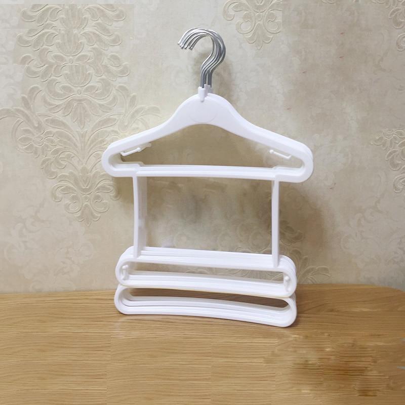 10 sztuk / partia wieszaki plastikowe dla clohtes wieszak na ubrania dla dzieci stojak na ubrania dla dzieci