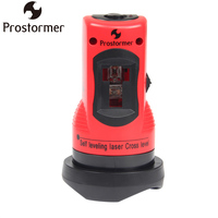 PROSTORMER Professional Self Leveling Laser Cross Level 2 Red Cross Line 1 Point 360 Degree Rotary