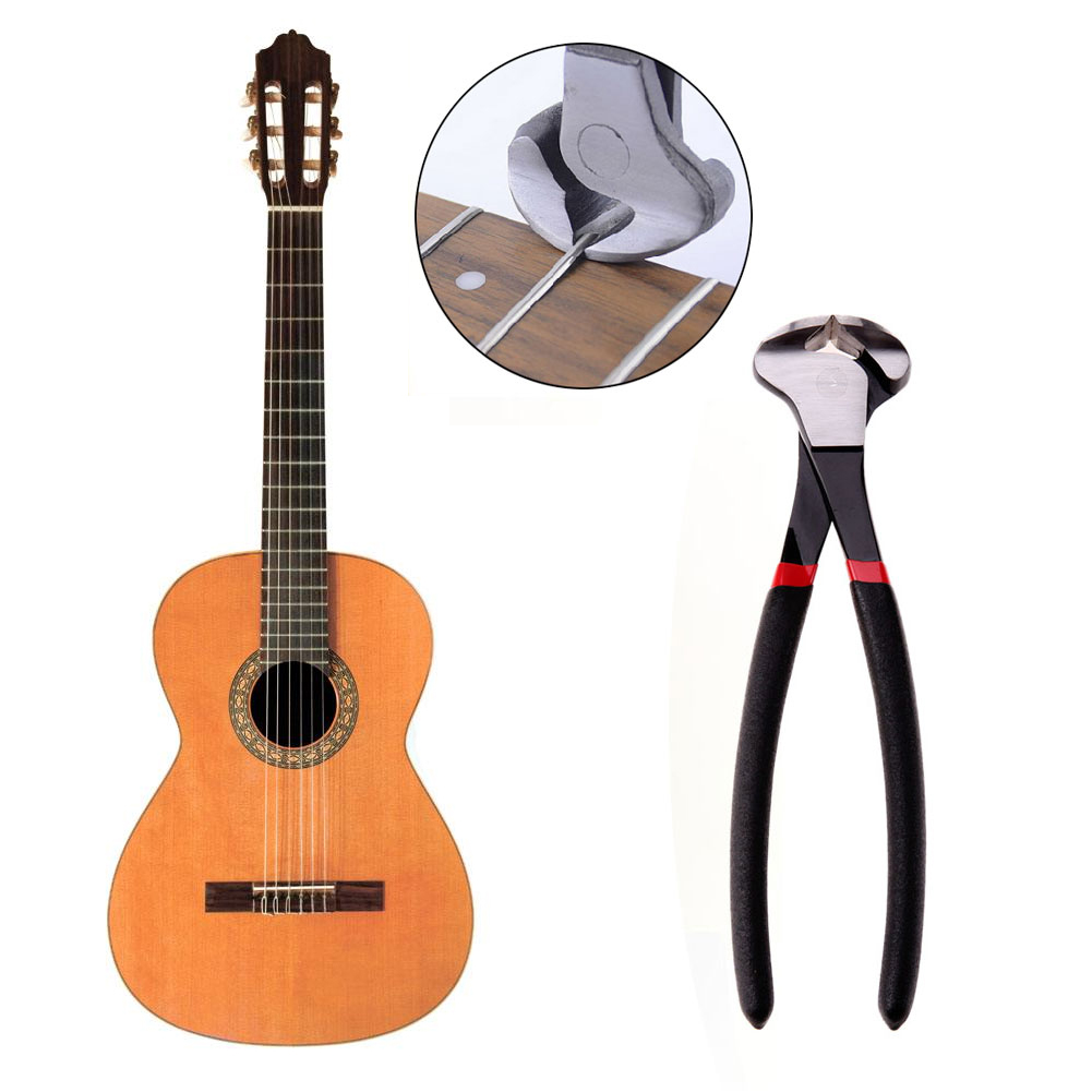 2017 Professional Guitar Fret Puller Bass Fret Wire Nipper Puller Plier String Cutter Luthier Tool Scissors Aluminum Alloy bent nose plier nipper hand tool 135mm