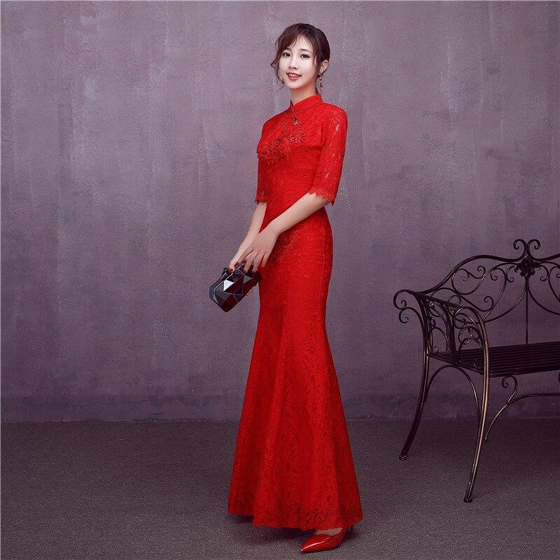 Lujoso Vestidos De Dama De Encaje Rojo Ideas Ornamento Elaboración ...