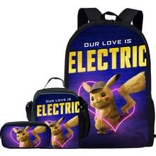 Jackherelook 2019 Hot Anime Pokemon Detective Pikachu School Bags For Teenage Girls Boys Kids Cute Backpack Schoolbag Mochilas