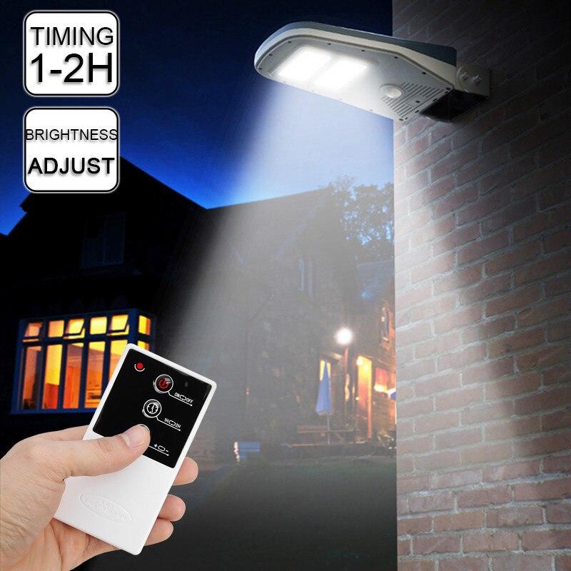 Smuxi 30 LED Solar Street Wall Light Outdoor Lamp Post Area Lighting Batteries Remote Garden Security Light цена 2017