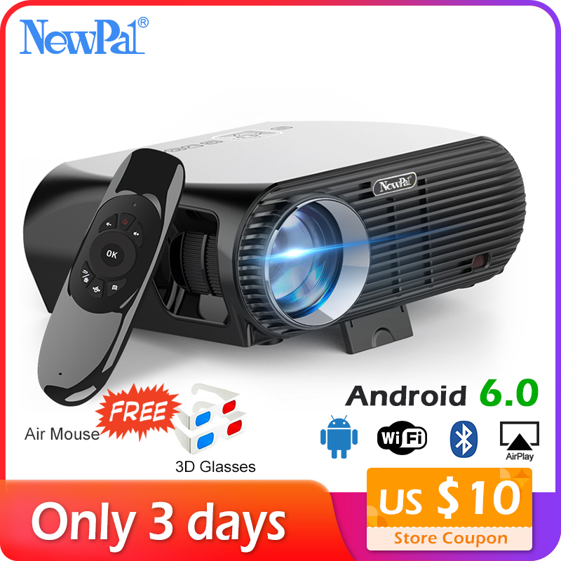 Newpal 3500 Lumens projecteur LED GP100 UP Full HD WiFi Android 4 K projecteur 3D sans fil vecteurs vidéo avec lunettes 3D gratuites