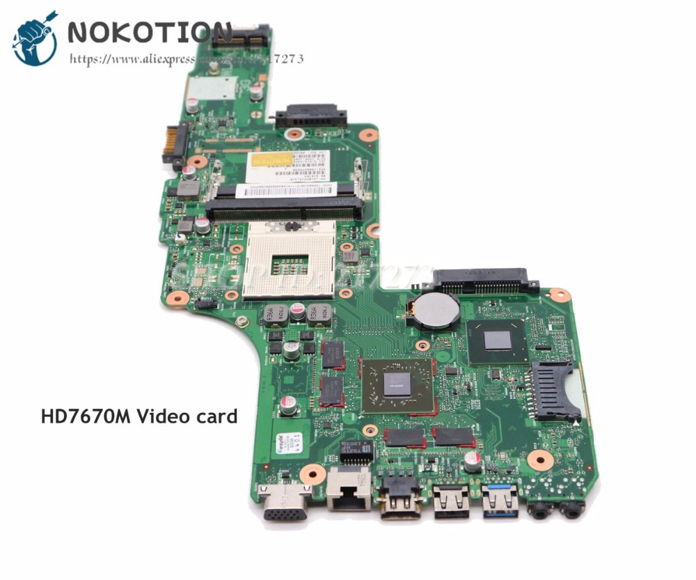 NOKOTION For Toshiba Satellite S855 C855 L855 Laptop font b Motherboard b font HM76 DDR3 HD7670M