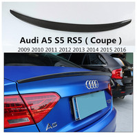 Carbon Fiber Spoiler For Audi A5 S5 RS5 Coupe 2009 2016 Rear Wing Spoilers High Quality S5 Style Car Accessories