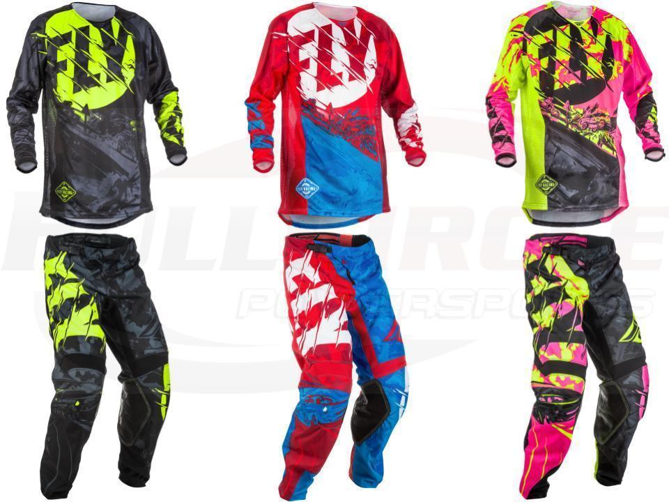 NEW Fly racing Dirt Bike Pants Jersey Combos Motocross MX Racing Suit Cross country Jersey Pants