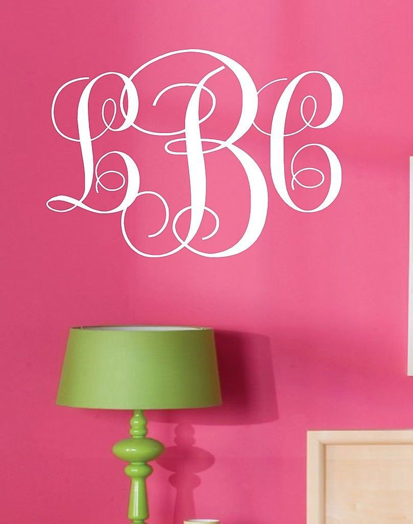 Custom Names Dacals Monogram Initials Vinyl Wall Decal StickersLettering Words Personalized Graphics Decor-in Wall Stickers from Home u0026 Garden on ...  sc 1 st  AliExpress.com & Custom Names Dacals Monogram Initials Vinyl Wall Decal ...