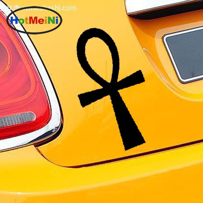 HotMeiNi 10 Colors Ankh Egyptian Mystery Symbols Cross Decoration Car Sticker Car Styling Waterproof Reflective Vinyl Decal