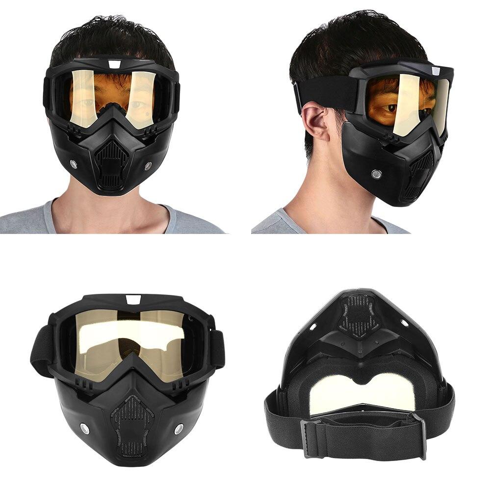Съемный модульный мотоциклетный шлем для езды на мотоцикле маска с фильтром для лица - Цвет: yellow