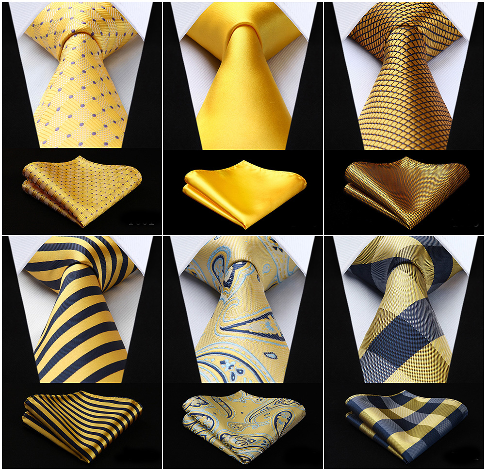 20 Colors Yellow Gold Mens Paisley 3.4