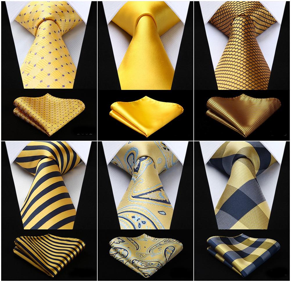 20 Colors Yellow Gold Mens Paisley 3.4