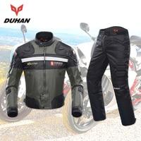 DUHAN мотоциклетная куртка для мотокросса брюки для мужчин Блузон мото комплект внедорожная одежда для верховой езды гоночный корпус Броня ч
