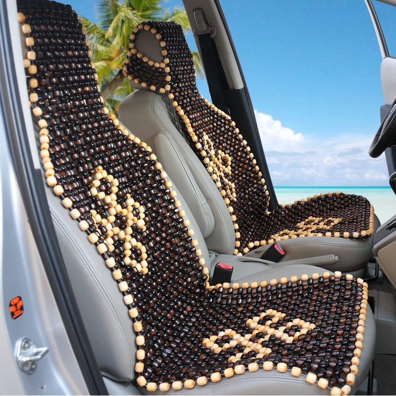Single Car Seat Summer Hand Knitted Wood Bead Beads Massage Cool Cushion In Automobiles Covers From Motorcycles On