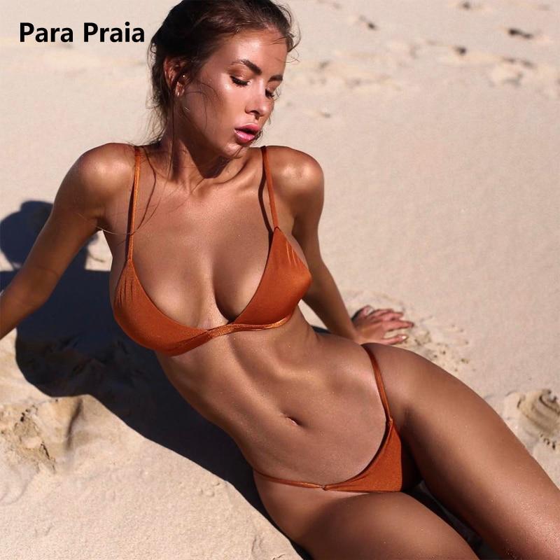 HTB1nBtZtXGWBuNjy0Fbq6z4sXXal 9 Colors Solid Bikini Set 2019 Sexy Push Up Swimwear Women Brazilian Swimsuit Low Waist Biquini Halter Two Pieces Bathing Suit
