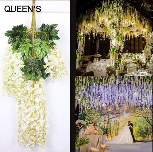 Fedex Express Sztuczne Wisteria Dekoracyjne Kwiaty Plastikowe