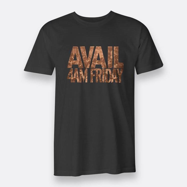 Avail 4AM Friday Black T-shirt Mens Tee Hardcore Punk Sleeve Tops T shirt Homme Top Tee