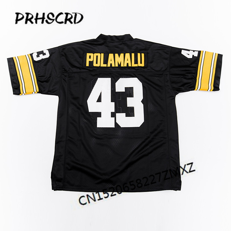 cheap for discount 39928 ca127 US $29.99 |Retro star #43 Troy Polamalu Embroidered Throwback Football  Jersey-in America Football Jerseys from Sports & Entertainment on ...