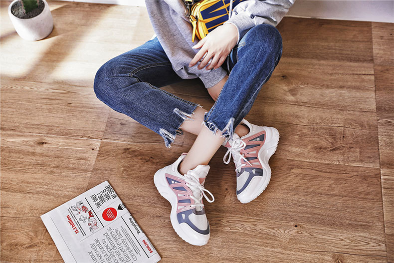 HTB1nBtwaDjxK1Rjy0Fnq6yBaFXaj - Fujin Sneakers Women Breathable Mesh Casual Shoes Female Fashion Sneaker Lace Up High Leisure Women Vulcanize Shoe Platform