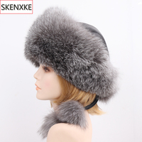 2019 New Style Winter Russian 100% Natural Real Fox Fur Hat Women Quality Real Fox Fur Bomber Hats Hot Real Genuine Fox Fur Caps