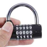 Coded Lock 4/5 Digit Password Safety Lock Wide Shackle Combination Padlock Combination Travel Security Safely Code Lock New