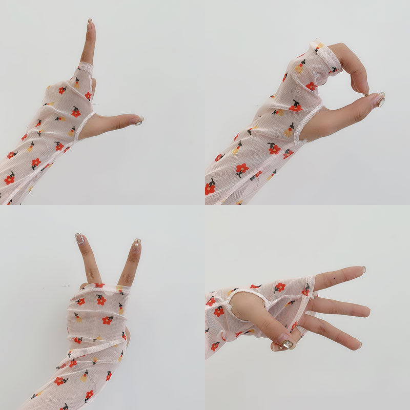 1 Pair Cycling Sport Arm Sleeves Sun UV Protection Arm Covers Cute Printing Cool Sleeves Arms Women Summer Running Arm Sleeves