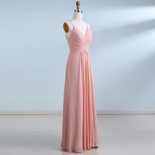 0d02f81017b placeholder BeryLove Long Simple Blush Pink Prom Dresses 2018 Pleated Chiffon  Prom Dress Women Wedding Party Dress