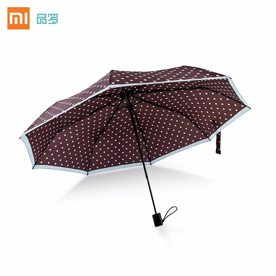 imágenes para Xiaomi Pinluo telescópica Automática paraguas Soleado y Lluvioso Paraguas De Aluminio A Prueba de Viento Impermeable UV Paraguas Verano Invierno