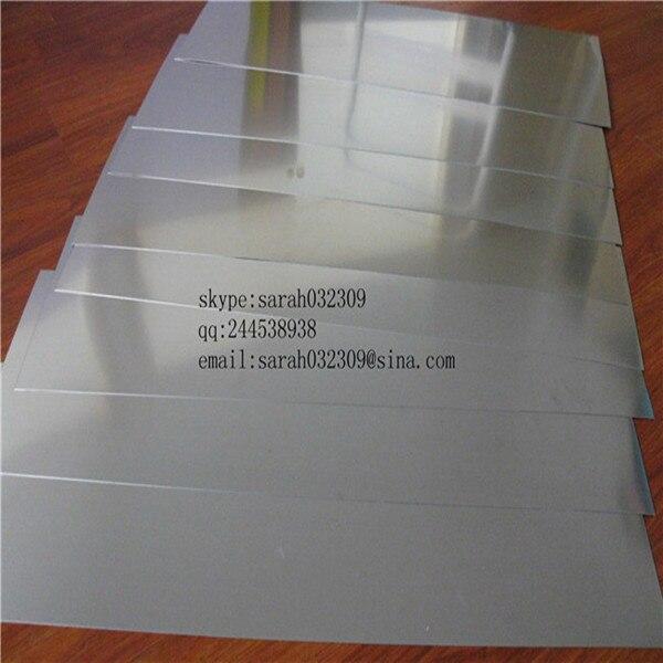 grade 2 gr2 titanium plate CP2 titanium sheet metal 2mm thickness 100mm*500mm 10PCS wholesale price Paypal
