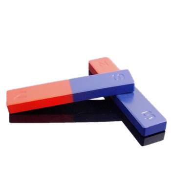4pcs Magnetic Teaching Tool Magnet Bar type magnet 71x15x10 mm blue red / Toy magnet / office magnet фото